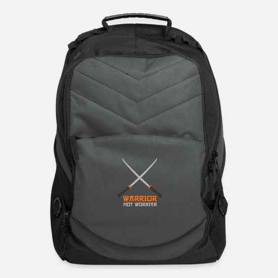 Worry Bags & Backpacks - WARRIOR NOT WORRIER - Computer Backpack charcoal