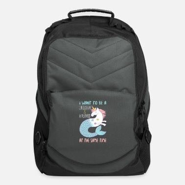 Mermaid I Want to be a Unicorn And a Mermaid - Computer Backpack