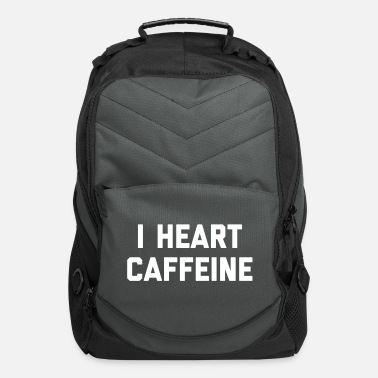 Coffee I Heart Caffeine Funny Quote - Computer Backpack