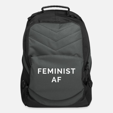 Quote Feminist AF Quote - Computer Backpack