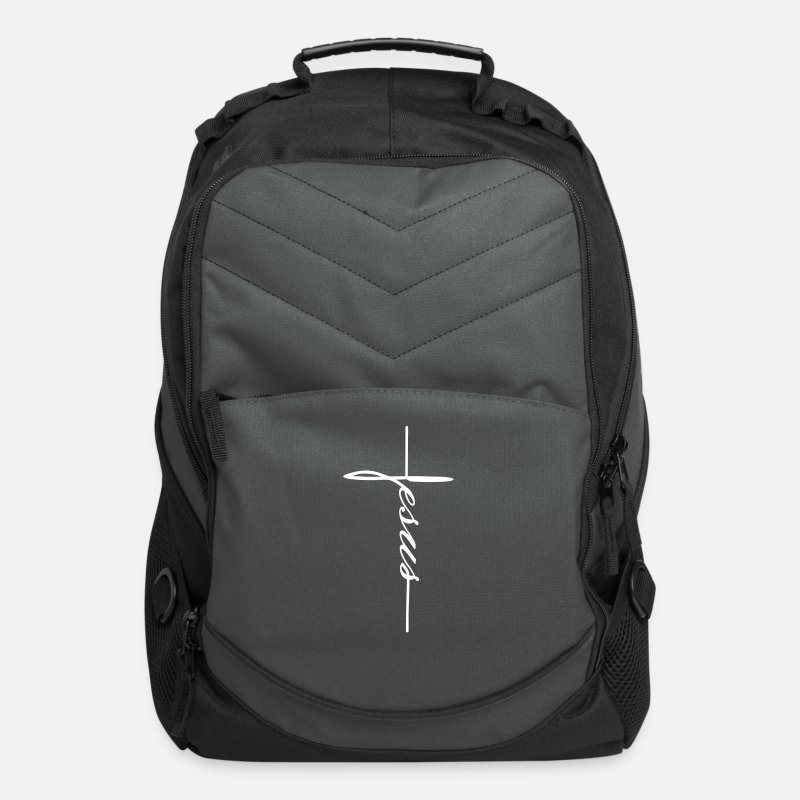 Christianity Bags & backpacks - Jesus - Computer Backpack charcoal