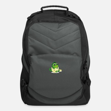 Eggshell baby dino in eggshell cartoon - Computer Backpack