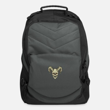 Horns Skull with horns horned skull - Computer Backpack