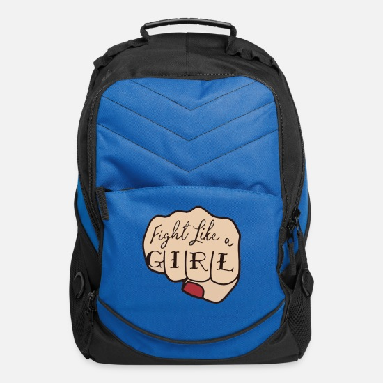 Girl Bags & Backpacks - Fight Like A Girl Punch - Computer Backpack royal blue
