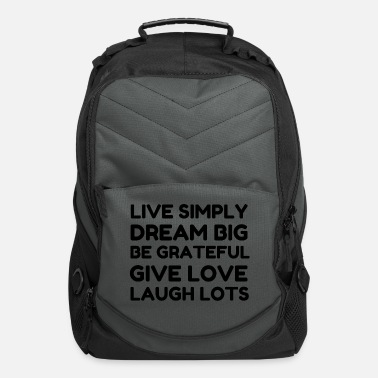 Dream Catcher Live Simply Dream Big Be Grateful - Computer Backpack