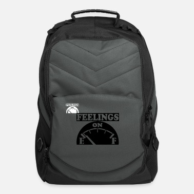 Feelings on E White Text - Computer Backpack