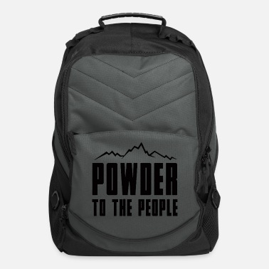 Powder Powder to the People - Computer Backpack