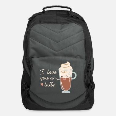 Latte Macchiato Love You A Latte - Computer Backpack