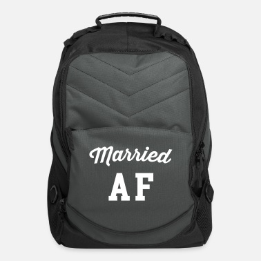Marry Married AF Funny Quote - Computer Backpack