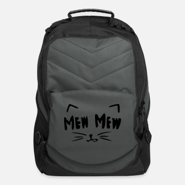 Graphic Art Computer Backpack - Cute Cat Art.