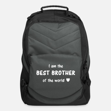 I Heart I am the best brother of the world - brothers love - Computer Backpack