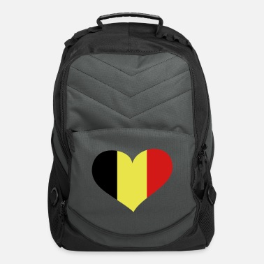 Love You Belgium Heart; Love Belgium - Computer Backpack