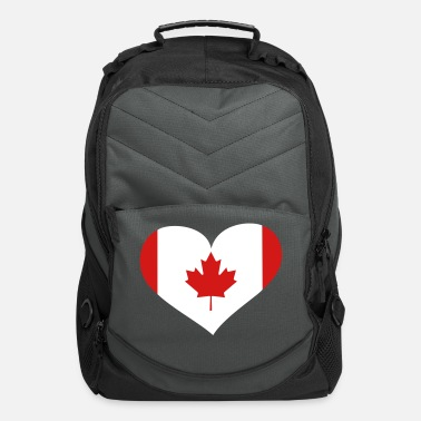 Love You Canada Heart; Love Canada - Computer Backpack