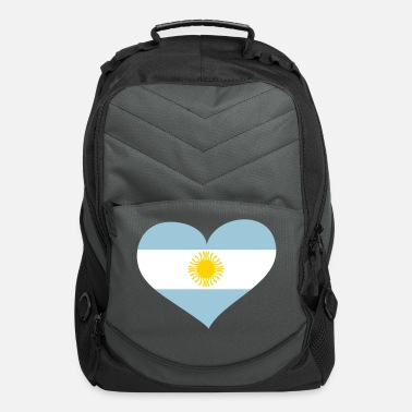 South America Argentina Heart; Love Argentina - Computer Backpack