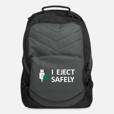 Humor I Eject Safely - USB Innu - Computer Backpack