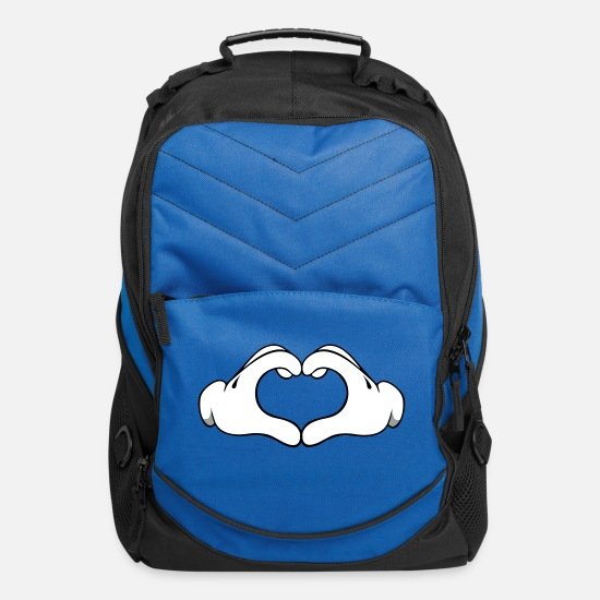 Love Bags & Backpacks - mickey_hand_heart_20 - Computer Backpack royal blue