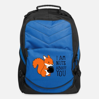 Love You I am nuts about you - Computer Backpack