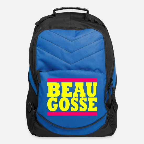 Young Bags & Backpacks - Beau Gosse - Handsome man in French - Computer Backpack royal blue
