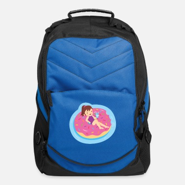 Travelling Girl on Doughnut Float - Computer Backpack