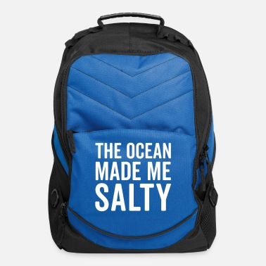 Humor Ocean Made Me Salty Funny Quote - Computer Backpack