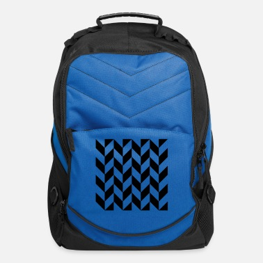 Graphic Art Black Zig Zag Chevron - Computer Backpack