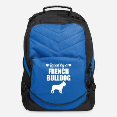 Bulldog Loved By A French Bulldog - Computer Backpack