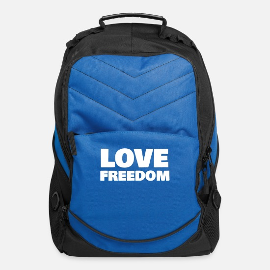 Freedom Fighters Bags & Backpacks - Love Freedom - Computer Backpack royal blue