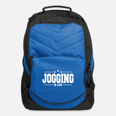 Exercise jogging is life 1 - Computer Backpack