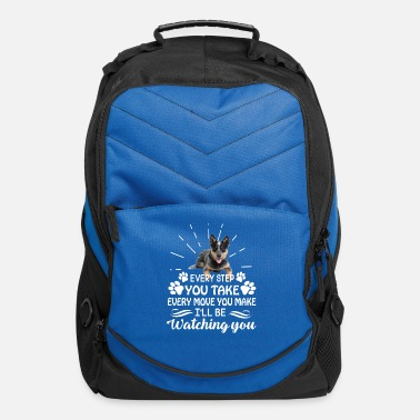 Heeler Every Step You Take Blue Heeler Tshirt - Computer Backpack