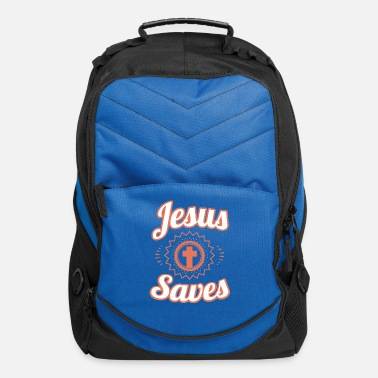 Jesus Saves T-Shirt and Christian Clothing - Computer Backpack