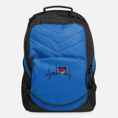 Spree Berlin Heartbeat Skyline Germany German Flag Heart - Computer Backpack