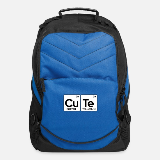 Chemistry Bags & Backpacks - CUTE Periodic Table Copper Tellurium - Computer Backpack royal blue