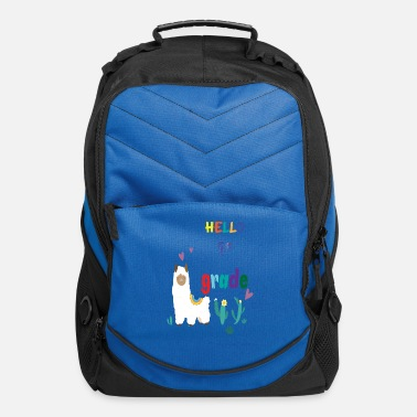 First Grade hello first grade llama - Computer Backpack