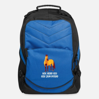 Horse Horse Saying Riding Shirt For Riders - Computer Backpack