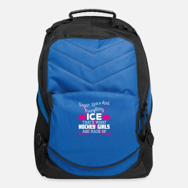 Sugar Spice And Everything Ice Hockey Girl Ice Hockey Girls Sugar Spice Everything Ice - Computer Backpack