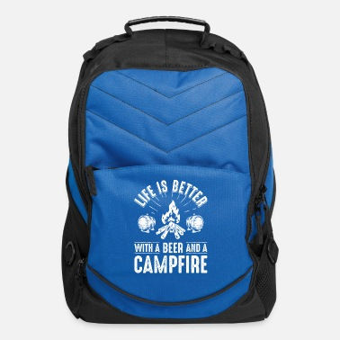 Campfire Marshmallow Life is better with a beer and a campfire - Computer Backpack