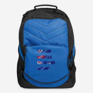 Australian Cattle Dogs Cartoon Quotes Australian pride t-shirt promotions - Computer Backpack