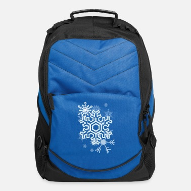 Snow Snow Flakes - Computer Backpack