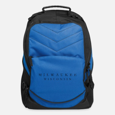 Milwaukee Wisconsin Milwaukee, Wisconsin (Ancient Black) - Computer Backpack