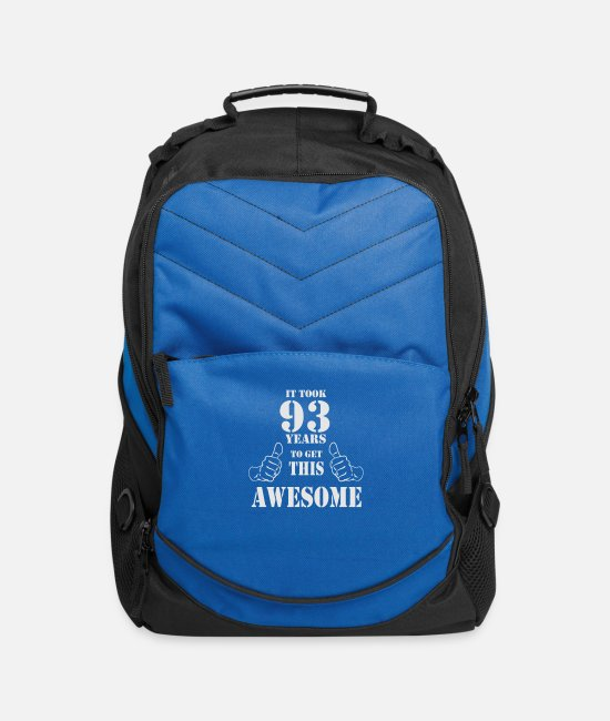Get Awesome Bags & Backpacks - 93rd Birthday Get Awesome T Shirt Made in 1924 - Computer Backpack royal blue