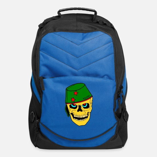 Heat Bags & Backpacks - Cool Skull Face - Computer Backpack royal blue