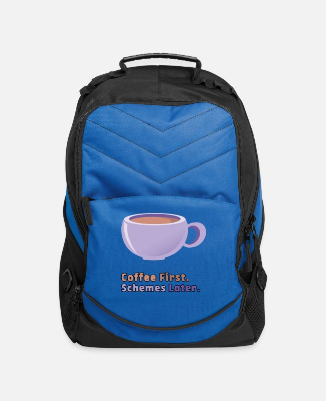 Coffee Bean Bags & Backpacks - Coffee first. Schemes later. - Computer Backpack royal blue