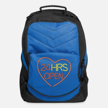 Relationship neon sign: 24 hrs open heart - Computer Backpack