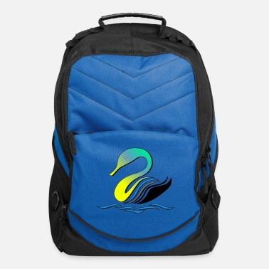 Stylized stylized swan - Computer Backpack