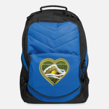 Day Lacrosse Field Heart - Computer Backpack
