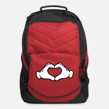Mickey Heart Hands Mickey LOVE hands - Computer Backpack