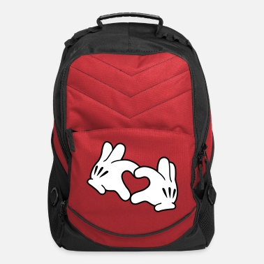 Mickey Heart Hands Mickey Heart - Computer Backpack