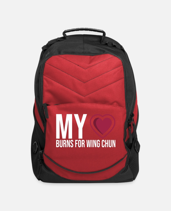 Martial Arts Bags & Backpacks - My heart burns for Wing Chun - Computer Backpack red