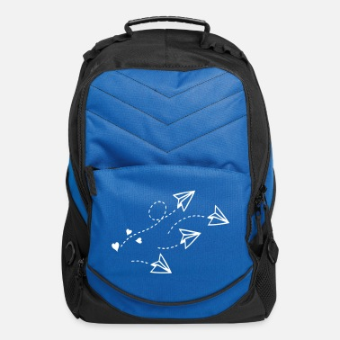 Airplane heart paper planes - Computer Backpack