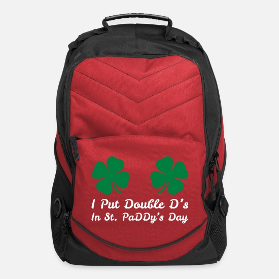 St Bags & Backpacks - I Put Double Ds In St Paddys Day Saint Patrick Day - Computer Backpack red